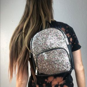 Sequin Mini Backpack Purse